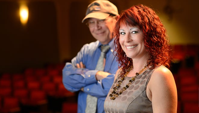 Kia Fontaine will take the reigns from John Loesser (background) as Executive Director of The Lyric Theatre in Stuart.