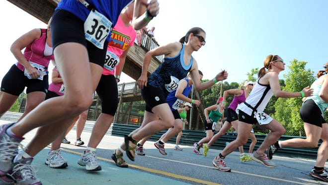 Runners take part in a past run at the Mountain Sports Festival in Carrier Park.