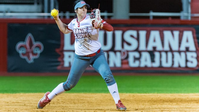 UL shortstop Alissa Dalton had a big Sunday at the plate, going 7-for-9 with a homer and five RBIs.