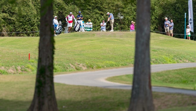 Max Homa is shown on the tee during this year's Web.com Tour Chitimacha Louisiana Open.