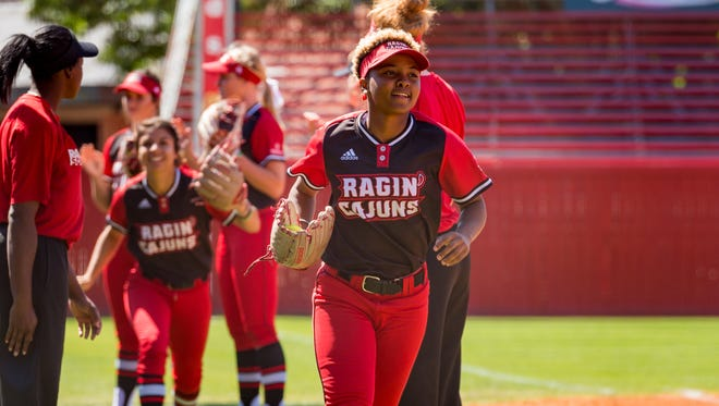 UL centerfielder Aeriyl Mass is part of a new trend for the Ragin' Cajuns this past weekend with defensive replacements later in ball games.
