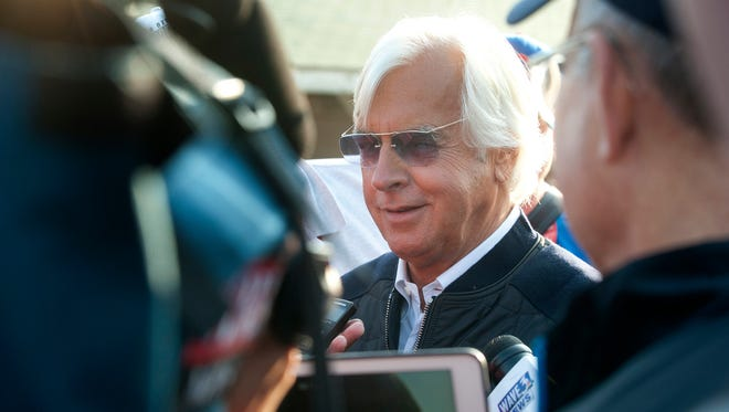 Bob Baffert, trainer of this year's Kentucky Derby winner, Justify. This is Baffert's fifth Kentucky Derby win following his victories with Silver Charm (1997), Real Quiet (1998), War Emblem (2002) and Triple Crown winner American Pharoah (2015).May 06, 2018