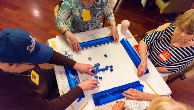Mah Jongg tournament at Petroleum Club draws people from different cities in Louisiana to play a centuries old tile game that players say is a great game to help memory and mental health issues. Monday, April 23, 2018.
