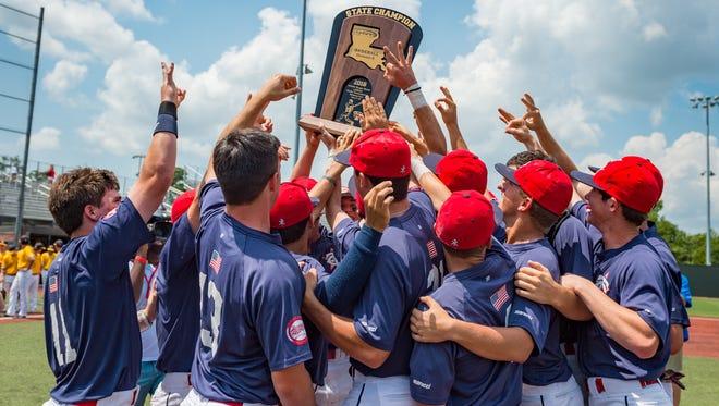 Teurlings Catholic takes down University High to win the 2018 LHSAA Baseball Championship. Saturday, May 12, 2018.