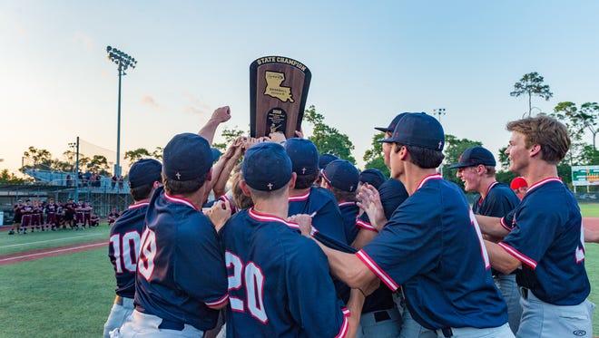 Notre Dame takes down St Thomas Aquinas to win the 2018 LHSAA Baseball Championship. Saturday, May 12, 2018.