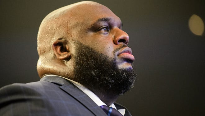 Pastor John Gray during the installation of pastors service at Relentless Church on Sunday, June 3, 2018.