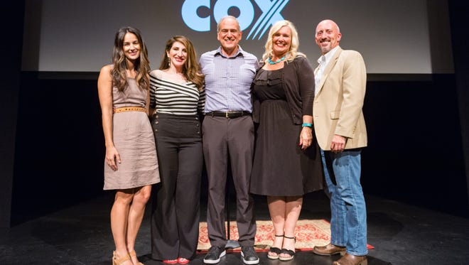 The Lafayette Storytellers Project presented by The Advertiser featured storytellers speaking about family vacations. (Storytellers L-R, Simone Ancelet, Abby Shiber Picou, Fred Reggie, Dana Baker and Jay Pierret)Tuesday, July 10, 2018.
