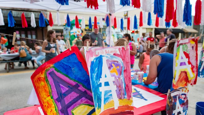 Street party Bastille Day Celebration celebrating Francophone heritage, in conjunction with Second Saturday ArtWalk. Saturday, July 14, 2018.