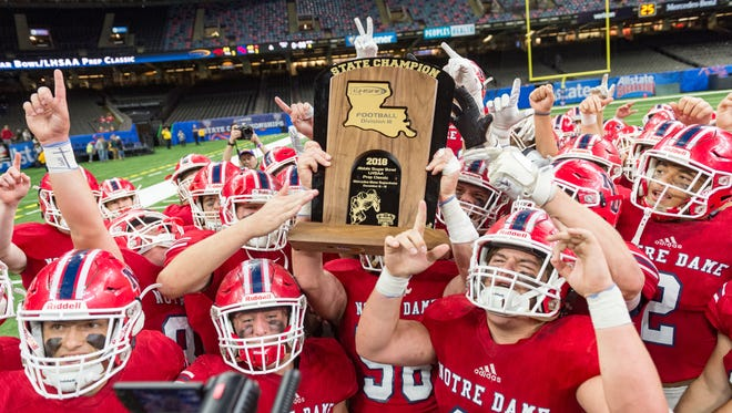 Notre Dame Pios take down Catholic High New Iberia to win the Division II State Championship. Thursday, Dec. 6, 2018.