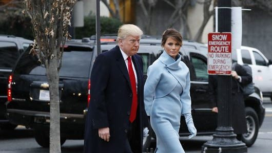 Donald J. and Melania Trump on the morning of the presidential inauguration.