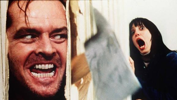 """Jack Nicholson and Shelley Duvall in Stanley Kubrick's """"The Shining."""""""