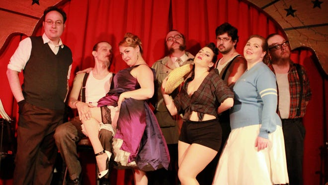 """Peaches and Crime performs """"Bandit's Burlesque"""" in Owego on Saturday."""