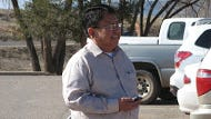 Navajo Nation Council Delegate Mel R. Begay stands outside the Window Rock District Court after his trial in March.