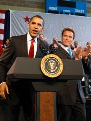 Former president Barack Obama and former California