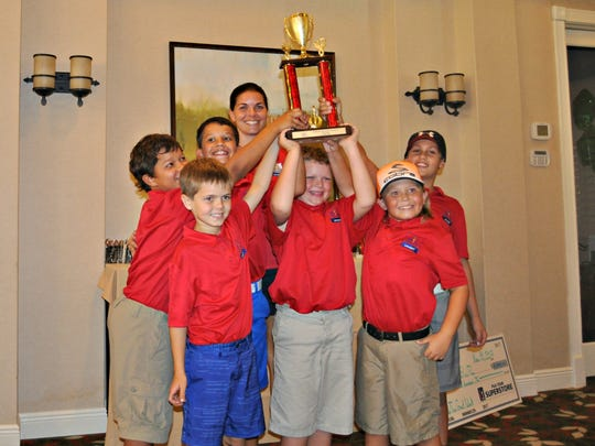 Veterans Memorial Elementary won the Gold Division at The First Tee Elementary School Championship on Saturday, Nov. 18, 2017, at Quail Village Golf Club.
