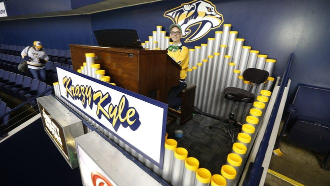 """The Predators and """"Krazy Kyle"""" Hankins debuted their new organ on Tuesday."""
