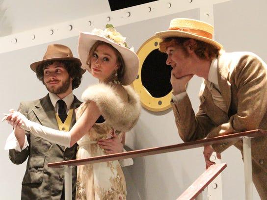 From left, Mitchell Walker as Lord Oakley, Brooke Bliznik