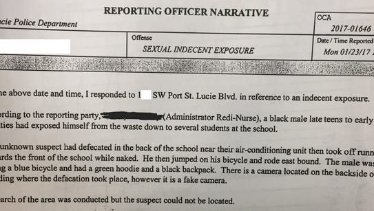 Police report from case