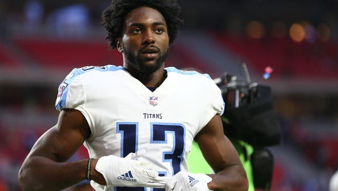 Former PRP and Western Kentucky University wide receiver Taywan Taylor (13) is now a part of the Tennessee Titans' offense.