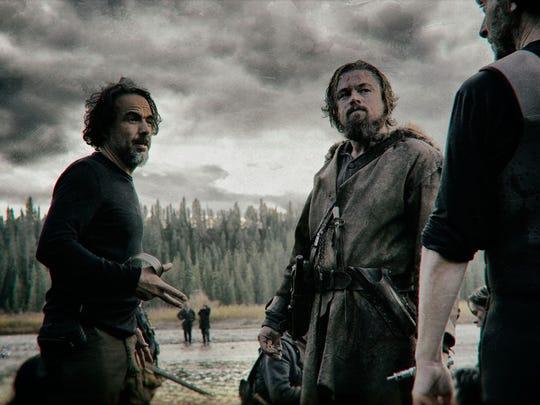 Alejandro González Iñárritu directs Leonardo DiCaprio