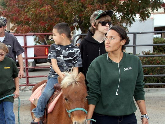 Children enjoyed pony rides during the 10th annual