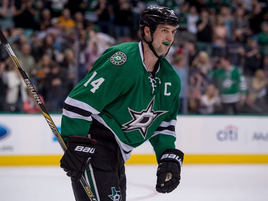 Dallas Stars left wing Jamie Benn led the league with