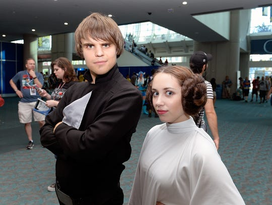Star Wars cosplayers.