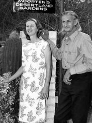Patricia and Chester (Cactus Slim) Moorten c. 1960/
