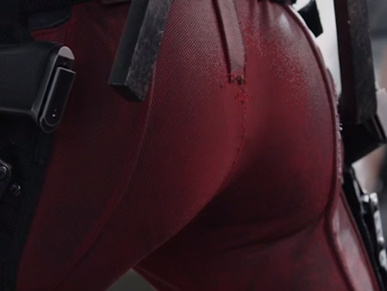 Actual trailer moment from 'Deadpool.'