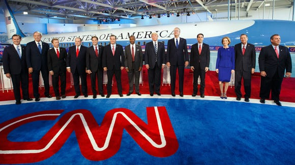 Republican presidential candidates take the stage for the CNN debate.