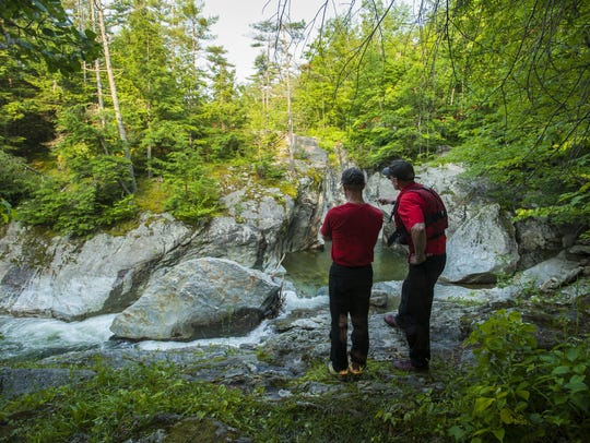 Members of Stowe Mountain Rescue on Monday, July 6,
