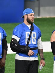 Lions left Taylor Decker missed the season's first