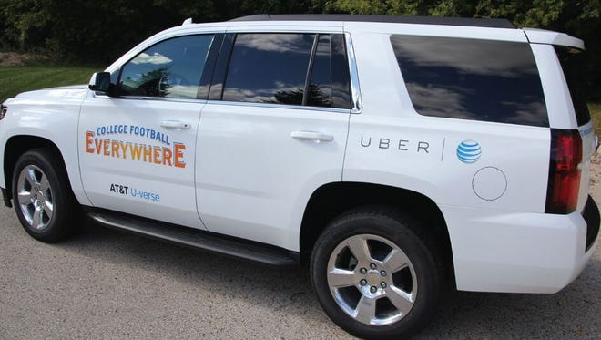 An AT&T Uber connected car.