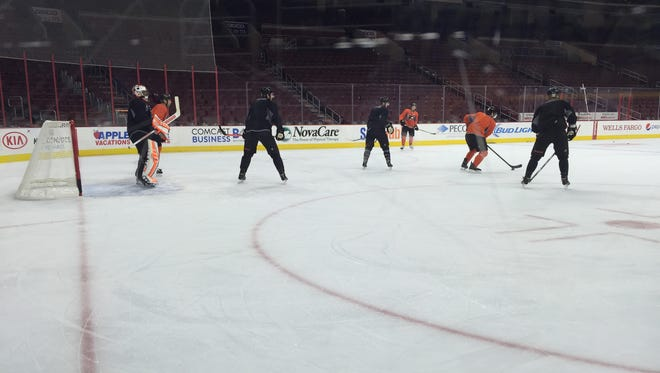 The Flyers are fielding a young team against the Washington Capitals Monday night.