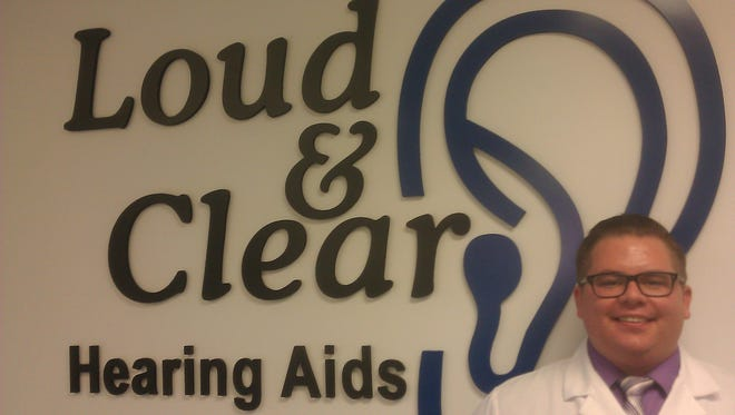 Wade Kimm is offering hearing tests and hearing aid sales at Loud & Clear, which opened recently in Urbandale.