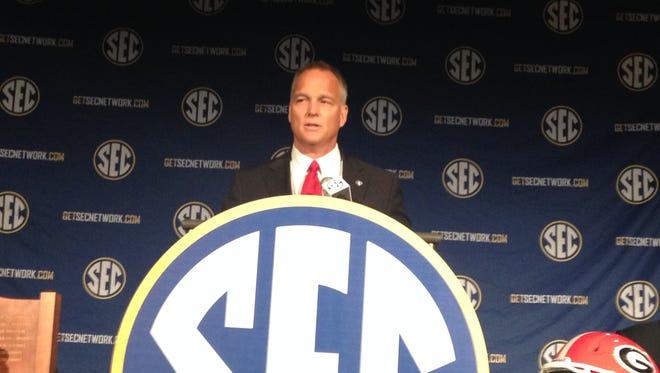 Georgia football coach Mark Richt speaks at SEC Media Days.