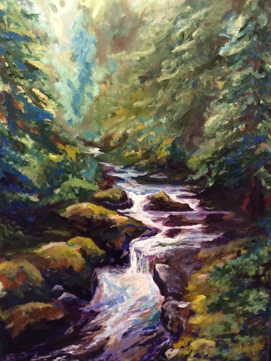 Kore Gallery Mike Stevens River through the Pines acrylic on canvas.jpg