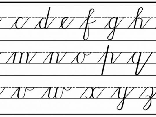 Printables A To Z Writing Image a to z cursive writing scalien