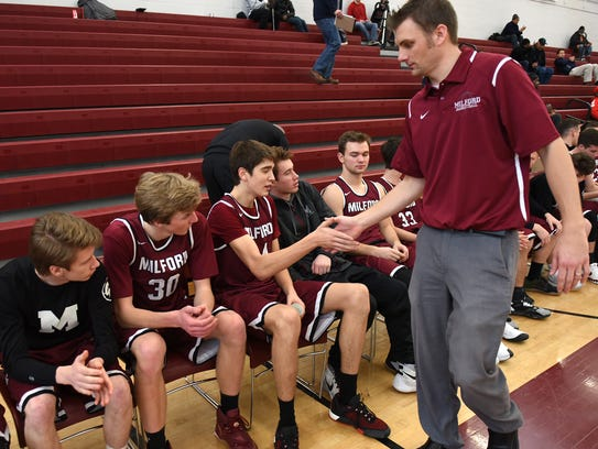 After the Mavericks defeated Annapolis 57-49, Milford's
