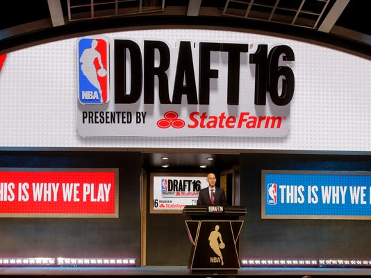 NBA Commissioner Adam Silver opens the 2016 NBA basketball draft, Thursday, June 23, 2016, in New York. (AP Photo/Frank Franklin II)
