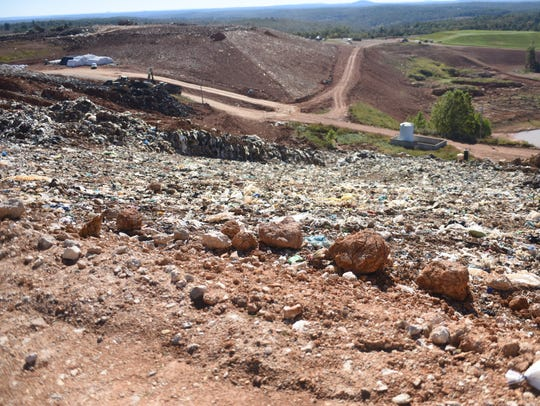 Eventually all of the trash at the NABORS landfill