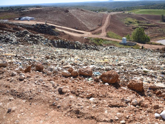 Eventually all of the trash at the NABORS landfill will be covered with artificial turf.