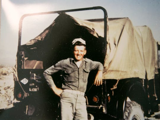 A photo of Duane Dobbe while in the Korean War.