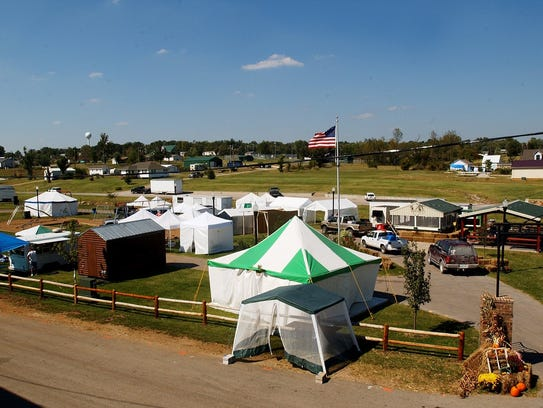 Vendor booths are set up and many of the activities