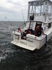The Coast Guard and other responders rescued two people