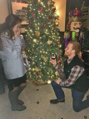 Heather Simmons surprised by marriage proposal from