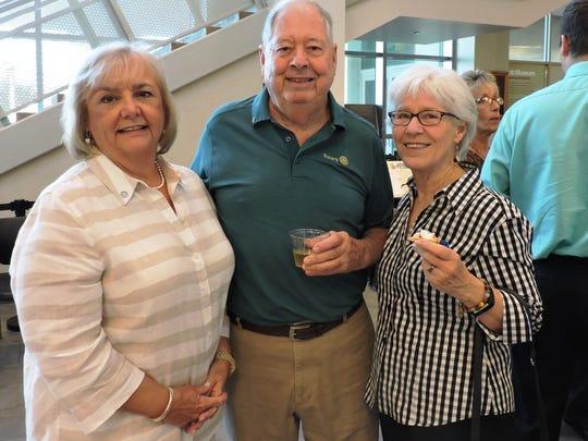 Carol Davis, left, and Dave and Jane Shoaf enjoy the