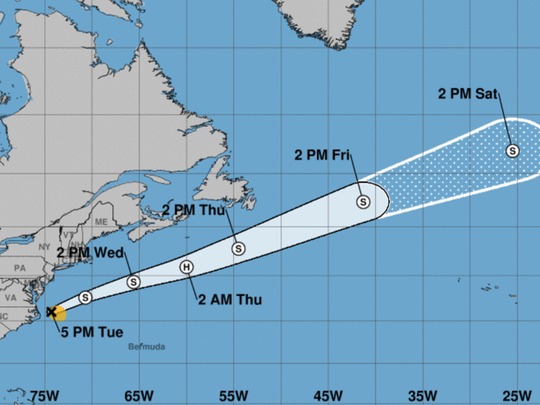 5 p.m., Aug. 29, 2017 Potential Tropical Cyclone 10.