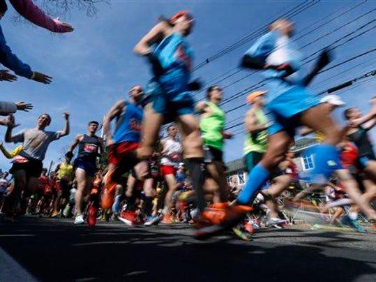 Boston marathon take off