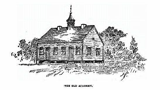 The Academy, one of Columbus' early schools, is depicted in an 1820 sketch.